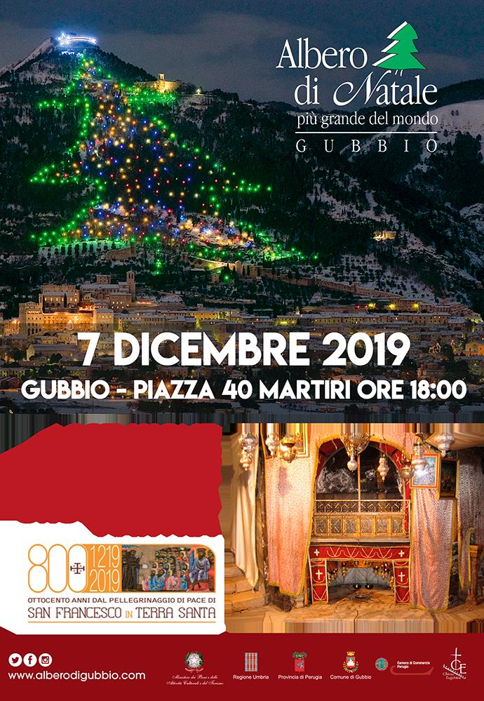 Dalla grotta all'interno della Basilica della Natività di Betlemme, sarà il Custode di Terra Santa Padre Francesco Patton ad accendere l'albero di Gubbio